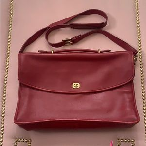Lightly Used Leather Coach Briefcase/Laptop Bag